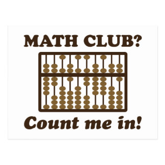 Count Me in the Math Club Postcards