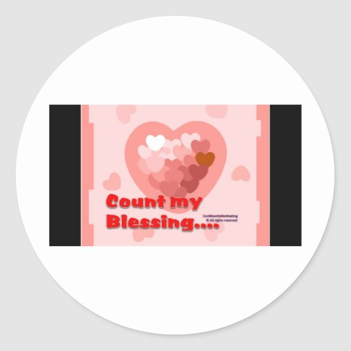 Count My Blessing Round Sticker