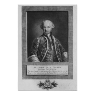 Count of St. Germain, famous alchemist, 1783 Poster