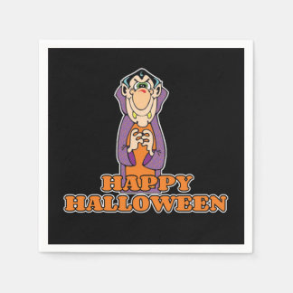 Count On Me Halloween Party Paper Napkins