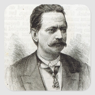 Count Taafe, from 'Leisure Hour', 1891 Square Sticker