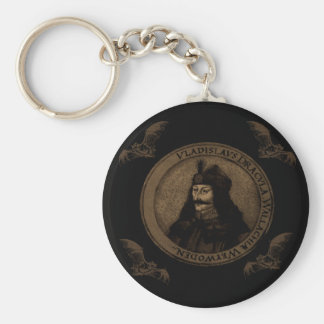 Count Vlad Dracula Basic Round Button Key Ring