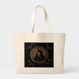 Count Vlad Dracula Large Tote Bag