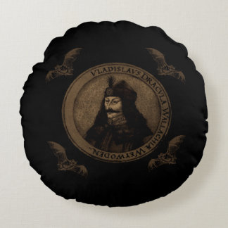 Count Vlad Dracula Round Cushion