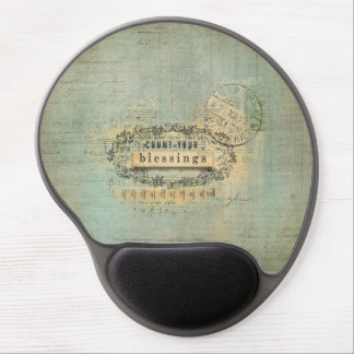 Count Your Blessing Collage Wordart Gel Mouse Pad