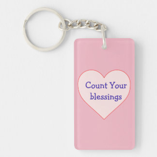 Count your blessings key chain