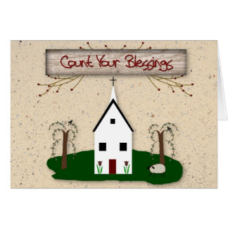 Count Your Blessings Note Card