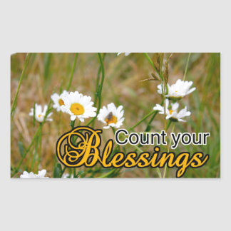 Count Your Blessings Rectangle Sticker
