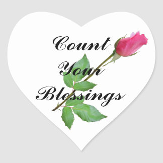 COUNT YOUR BLESSINGS-STICKER HEART STICKER
