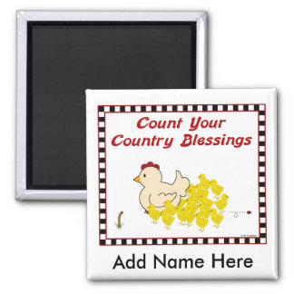 Count Your Country Blessings Square Magnet