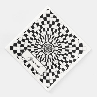 Counter Spirals by Kenneth Yoncich Disposable Napkin