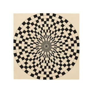 Counter Spirals by Kenneth Yoncich Wood Prints