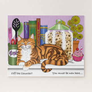 Counter Top Cat Jigsaw Puzzle