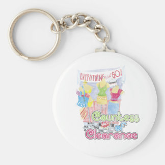 Countess of Clearance Basic Round Button Key Ring