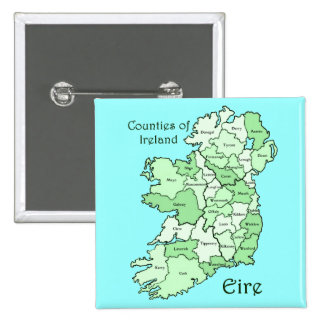 Counties of Ireland Map 15 Cm Square Badge