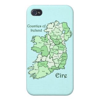 Counties of Ireland Map iPhone 4/4S Case