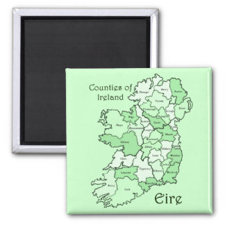 Counties of Ireland Map Magnet