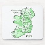 Counties of Ireland Map Mousepad