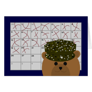 Counting Down to Seeing You Again Army Active Duty Greeting Card