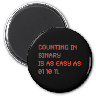 Counting in Binary 6 Cm Round Magnet