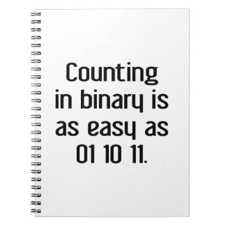 Counting In Binary Notebooks