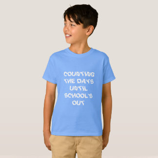 COUNTING SCHOOL DAYS HAINES TAG LESS SHIRT