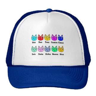 Counting Spanish Cats Mesh Hats