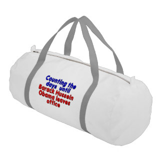 Counting the days until Barack Hussein Obama... Gym Duffel Bag