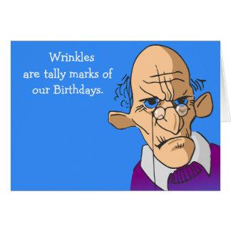 Counting Wrinkles Birthday Card Men