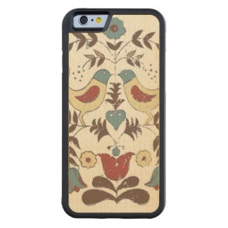 Country Americana Birds Amish Carved Maple iPhone 6 Bumper Case