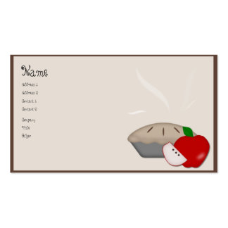 Country Apple Pie Business Card
