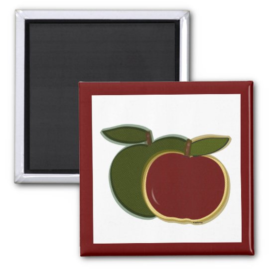 Country Apples (cranberry) Magnet
