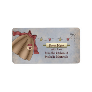 Country Apron Kitchen Gift Label