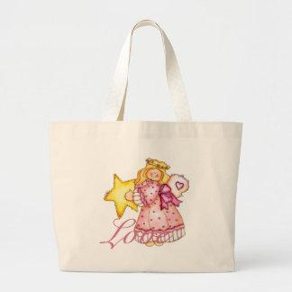 Country Art Star Girl - Love Jumbo Tote Bag