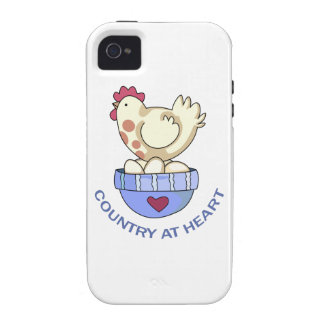 COUNTRY AT HEART HEN VIBE iPhone 4 COVERS