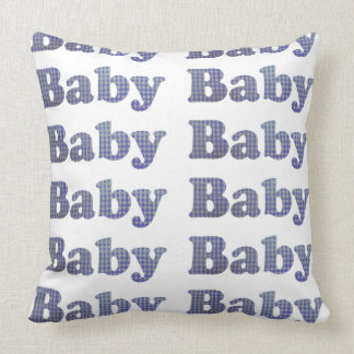 Country Baby Blue Gingham Designer Pillow