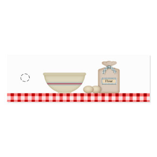 Country Baking Hang Tag Pack Of Skinny Business Cards