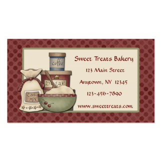 Country Baking Maroon Dots Business Card