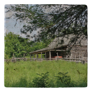 Country Barn and Fence Trivet