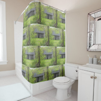 Country Barn In Springtime Shower Curtain