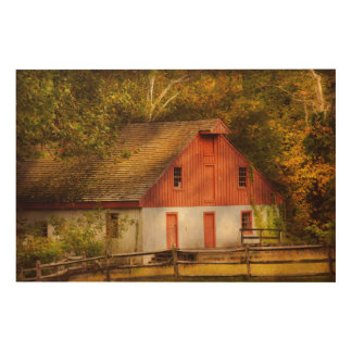 Country - Barn - Out to pasture Wood Print