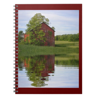 Country Barn Reflections Spiral Note Books