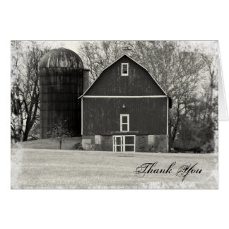 Country Barn Thank You Card