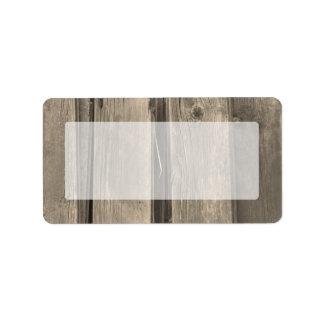 Country Barn Wood Address Label