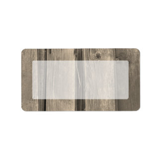 Country Barn Wood Label