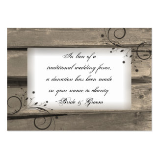 Country Barn Wood Wedding Charity Favor Card Pack Of Chubby Business Cards