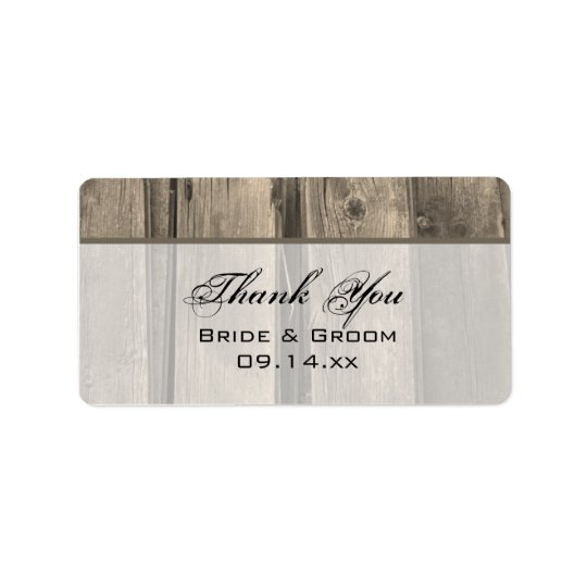Country Barn Wood Wedding Thank You Favour Tag