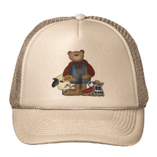 Country Bear 8th Birthday Gifts Cap