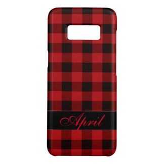 Country Black and red plaid -monogrammed Case-Mate Samsung Galaxy S8 Case