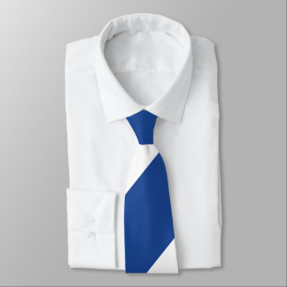 Country Blue and White Broad Regimental Stripe Tie